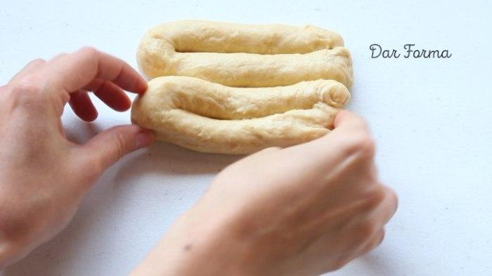 dar forma al pan de nata
