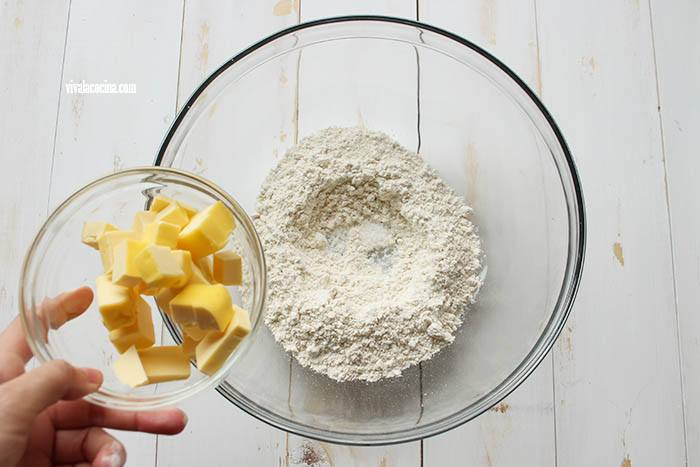 mantequilla para la masa de Quiche de Chorizo