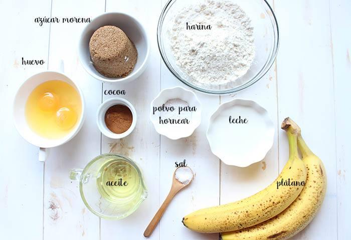 ingredientes para hacer bizcocho de plátano