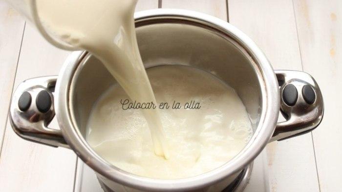 leche para hacer crema pastelera