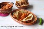 Chicharrón en Salsa Roja: Guiso Mexicano Fácil. Receta + Vídeo