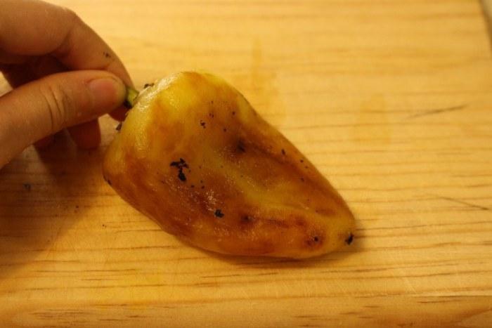 chiles asados para hacer chiles rellenos de queso