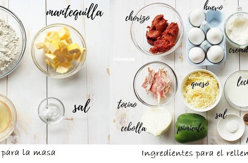Receta de Quiche de Chorizo y Espinacas