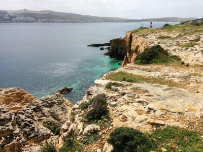 Traumhafte Küste im Nordwesten von Malta. 2015