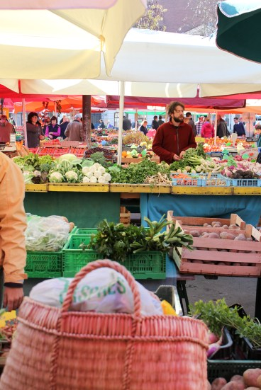Gemüsemarkt in Ljubljana. 2015
