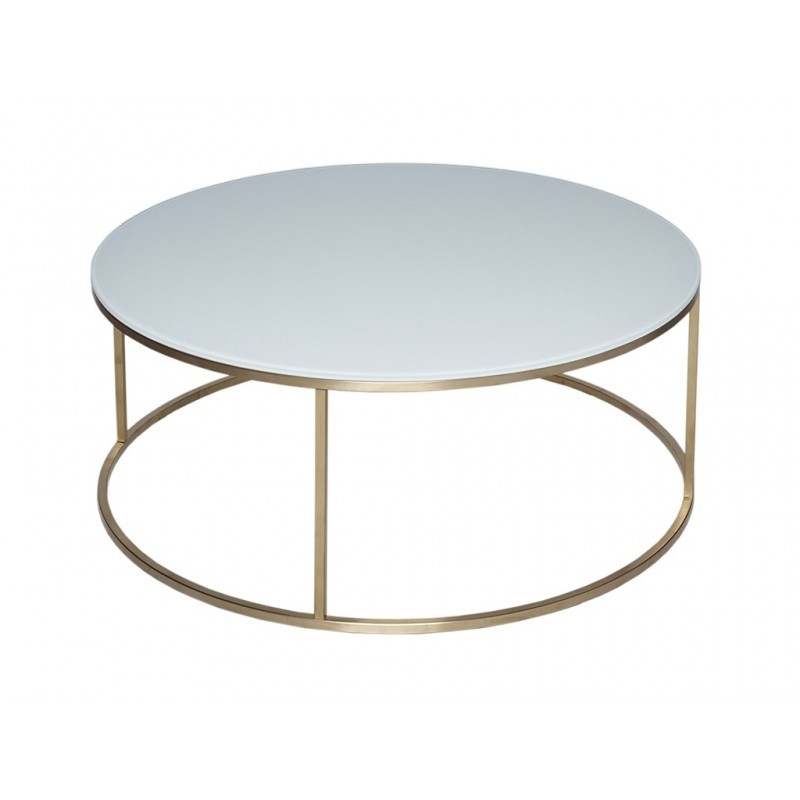 kensal circular coffee table white glass top