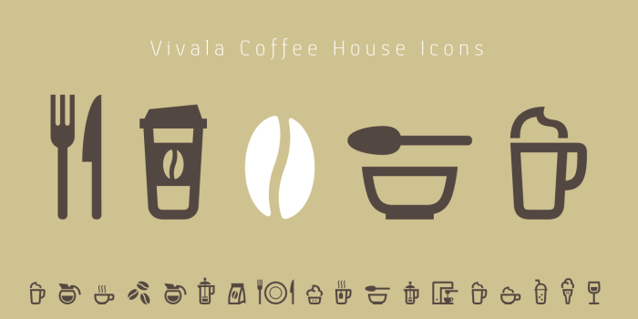 Coffee House Icons  for mobile Interfaces