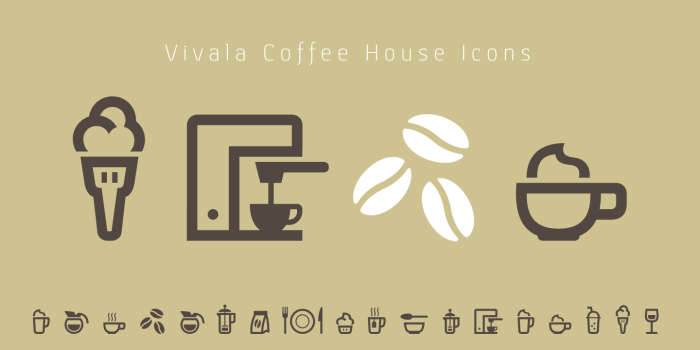 Vivala Coffee House Icons - coffee maker