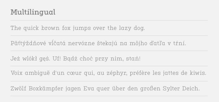 Vivala G Slab  Multilingual