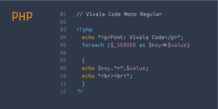 Vivala Code PHP
