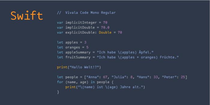 Vivala Code Swift