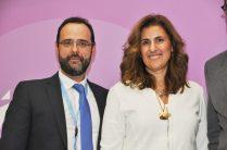 O Κωνσταντίνος Μαραβέγιας με τη Ρεβέκκα Πίτσικα, CEO της PfB Group, στο πλαίσιο ημερίδας του 12ο Συνεδρίου της Ν.Δ. για την επιχειρηματικότητα.