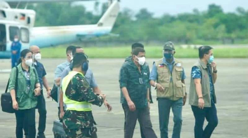 President Rodrigo Duterte has arrived in Tuguegarao City, Cagayan to conduct an aerial inspection of the areas devastated by typhoon Ulysses.