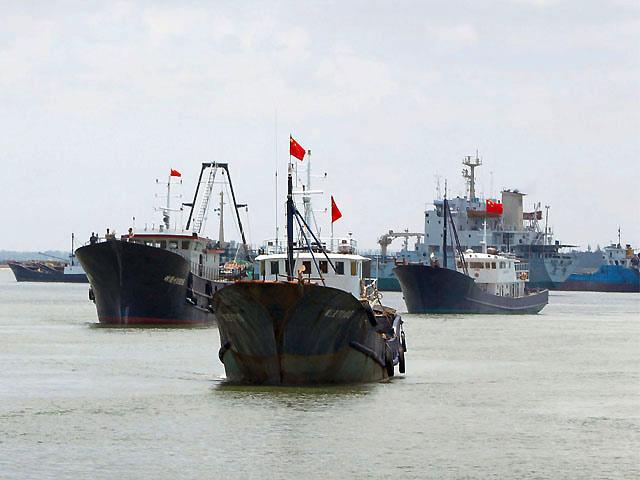 Chine Vessels at Juan Felipe Reef