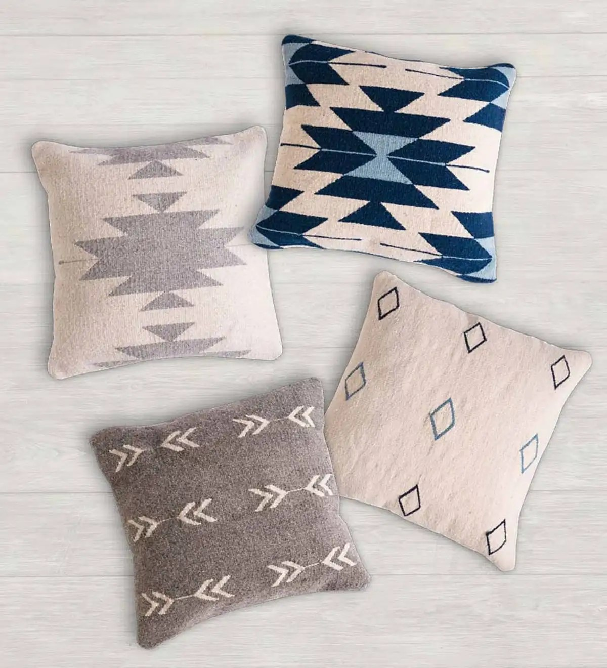 mexican pedal loom pillow covers