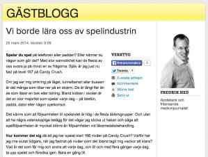 Fredrik Hed, medicinjournalist