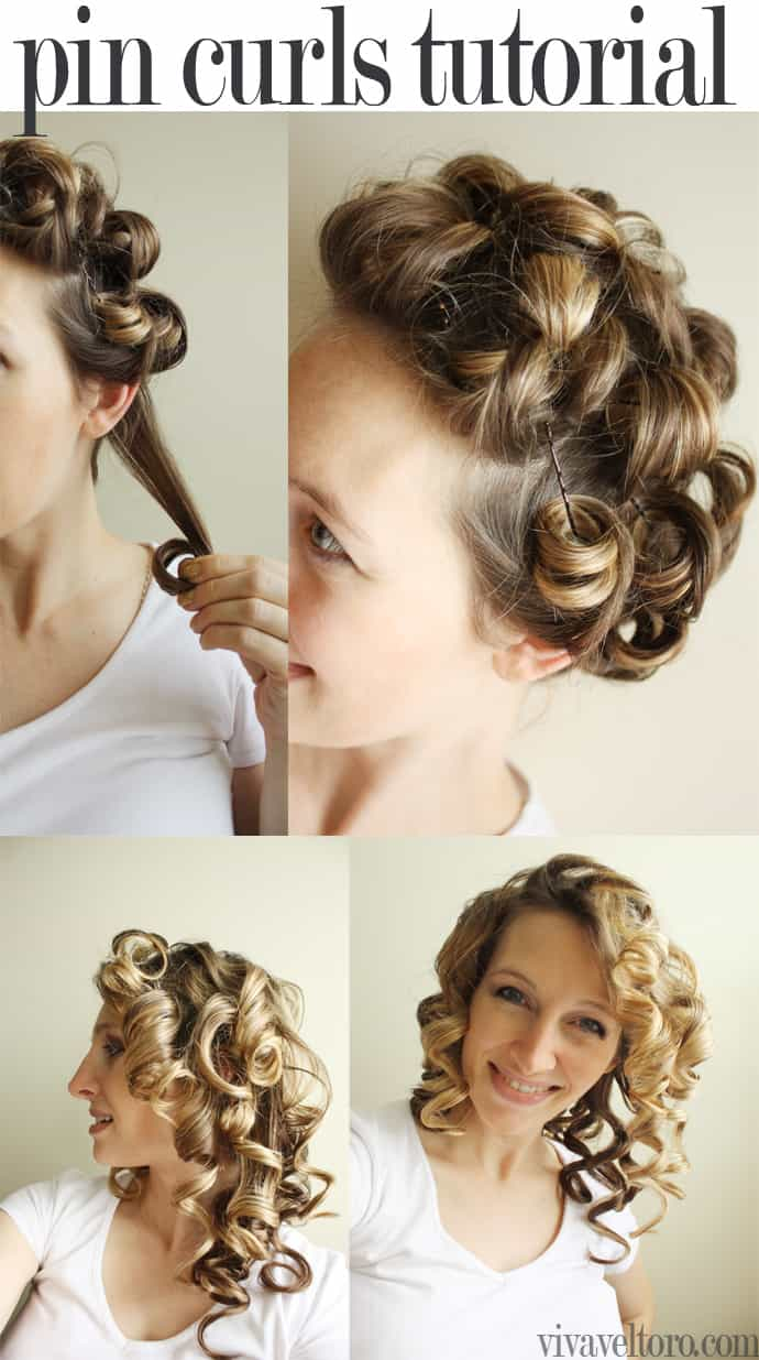 diy pin curls tutorial - viva