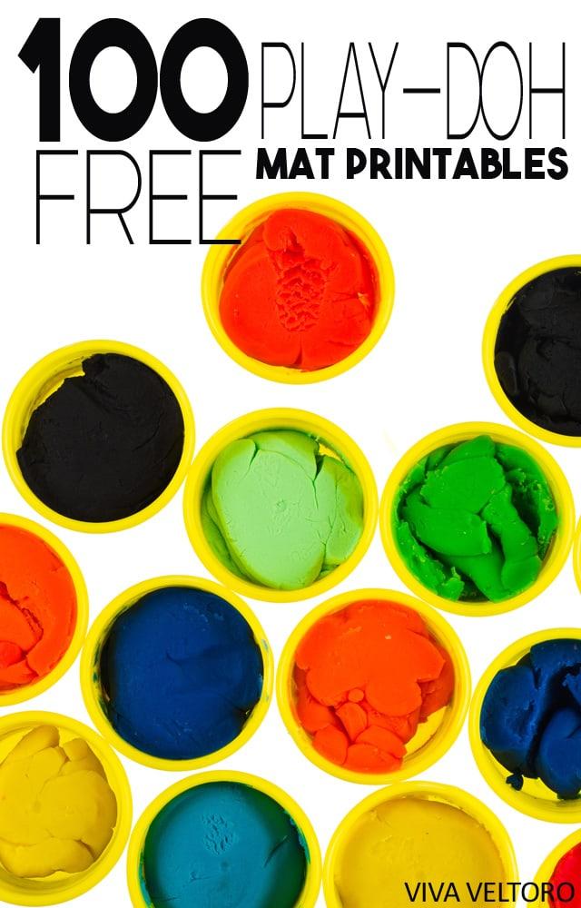 World Play Doh Day 100 Free Printable Play Doh Mats