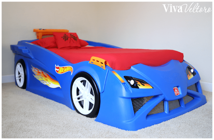 Race Car Bedroom Featuring The Step2 Hot Wheels Toddler To