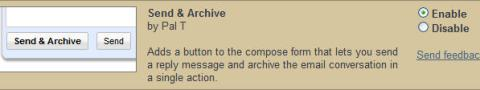 Enable Send and Archive