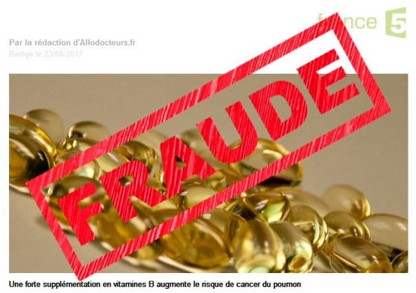 Fraude - La B12 n'augmente pas les risques de cancer