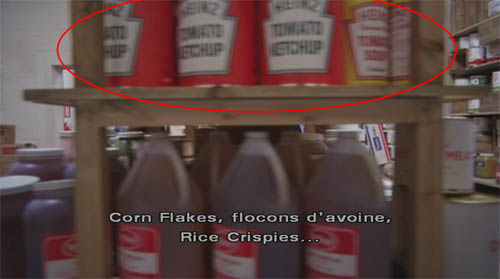 Placement produit Heinz dans Shining