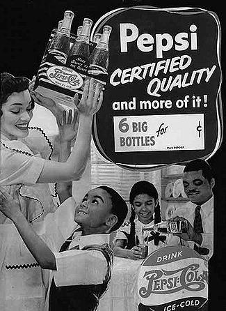 pepsi1947 L'image des noirs dans la publicité : 100 ans de racisme ?