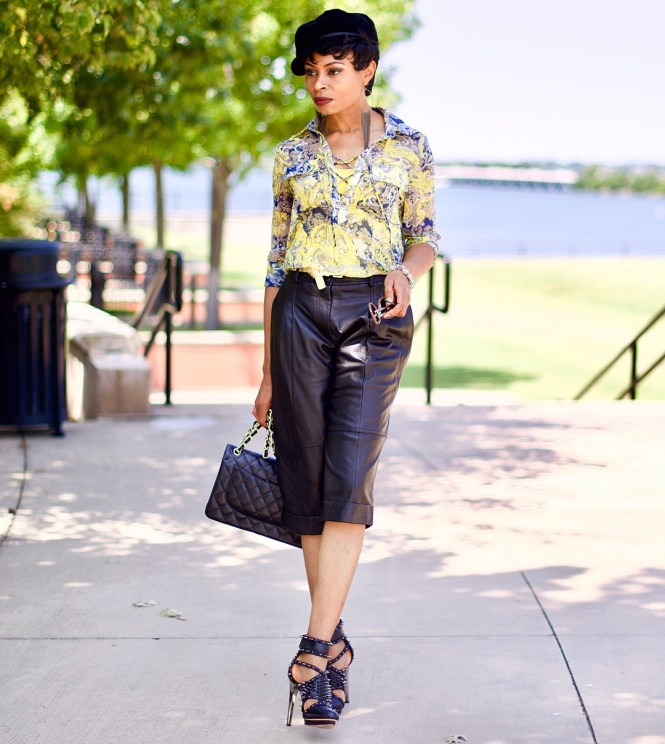 Leather Culottes -Styling for Summer Posted by Vivellefashion