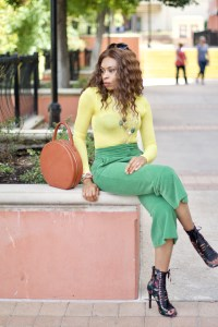 Cropped Kick flare pants + Brocade Floral boots Posted by Vivellefashion