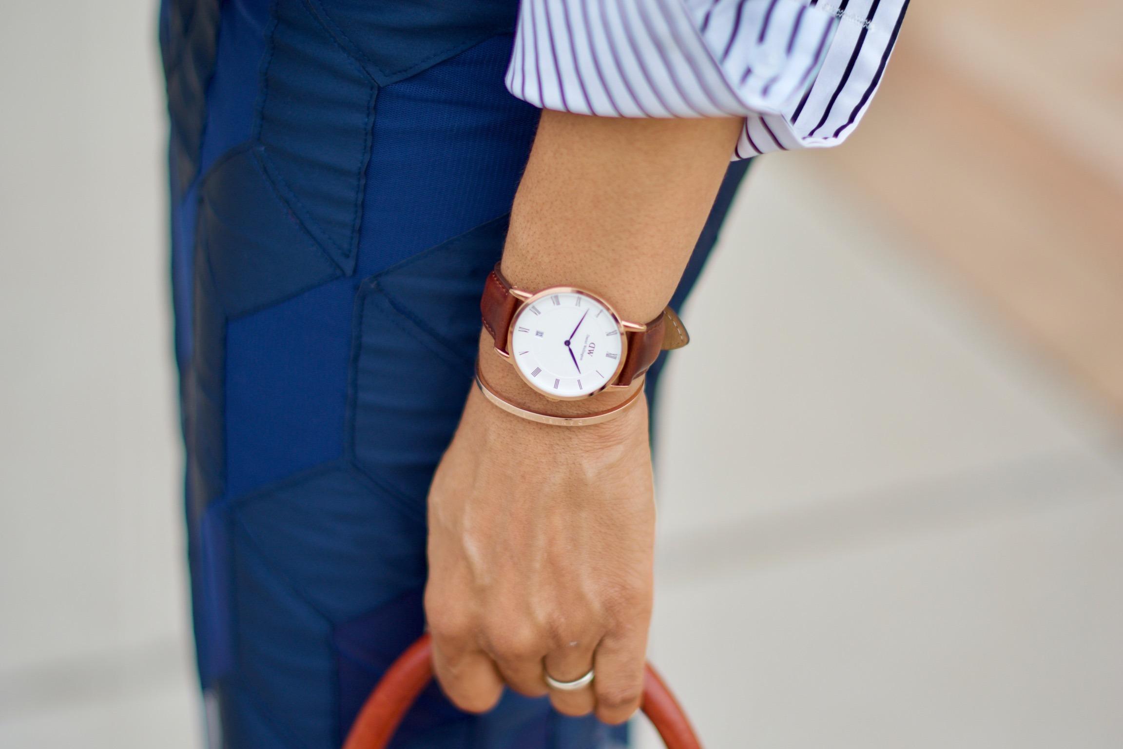 Striped button down puff sleeve shirt • Vivellefashion
