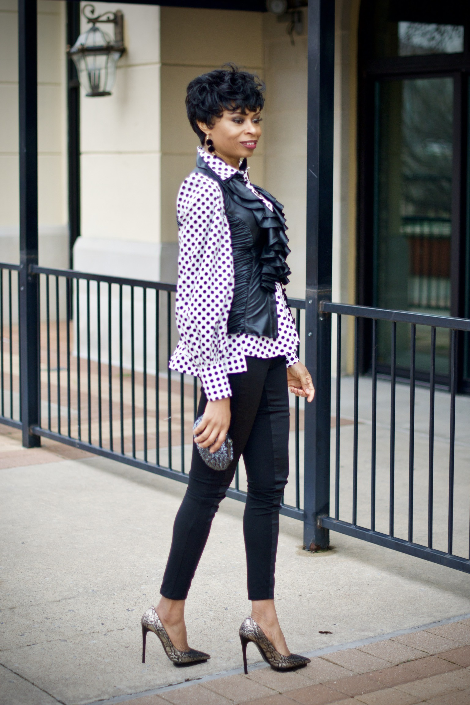 Polka dots and stripes-match made in heaven