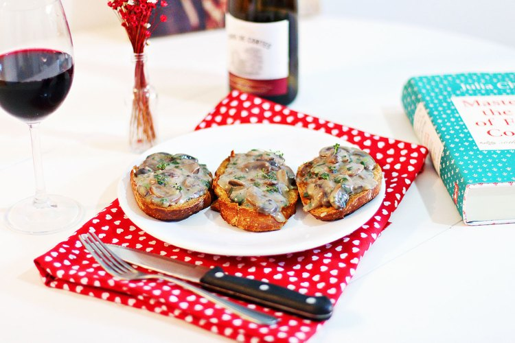 receitas da julia child bruschetta de cogumelos
