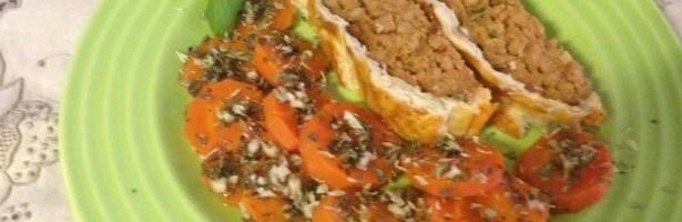 Rolo de Soja Escondido com Cenoura à Algarvia