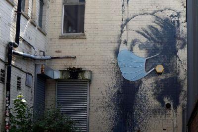 Pintura de Banksy.