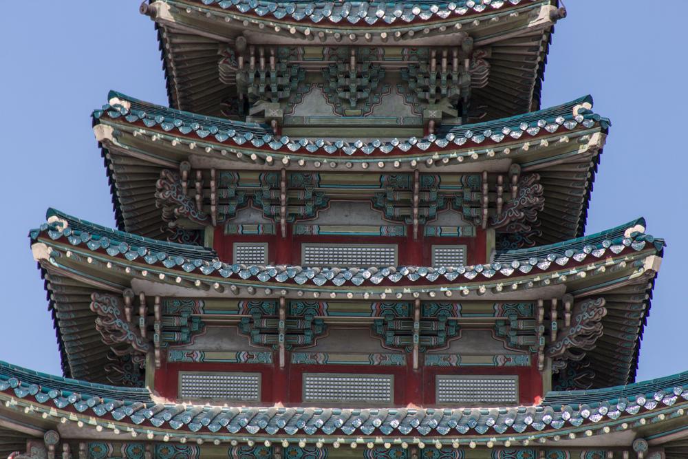 Uma das estruturas no Palácio Gyengbok (Gyeongbokgung)