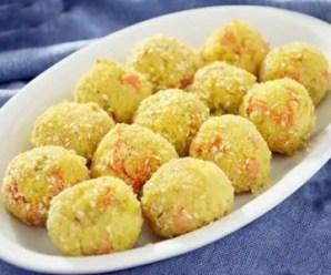 Polpette di miglio con verdura, ricetta gluten free