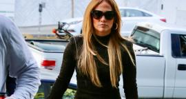 Jennifer Lopez wears her curves in a dress with translucent