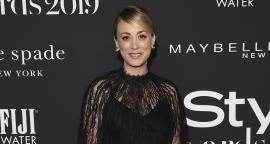 Kaley Cuoco conquer The Angels with a dress of lace and transparencies