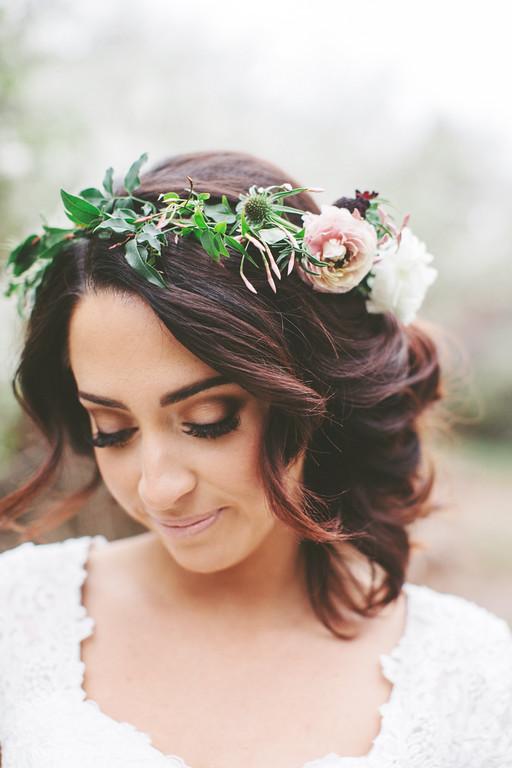 Flower Crown Updo Vivian Makeup Artist Blog