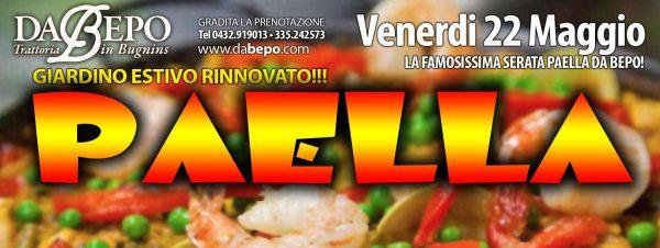 paella 600x226 22.05.2015   Serata Paella Trattoria Da Bepo Bugnins