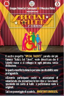 cartolina special Special Talents   Sabato 10 giugno 2017 Aditorium comunale 2017