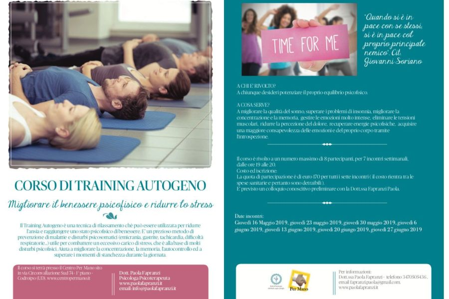Corso Training Autogeno Codroipo