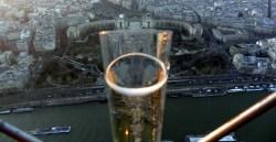 Do alto da Torre Eiffel