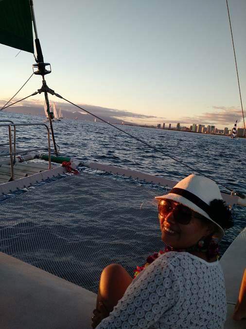 mulher Navegação Catamarã
