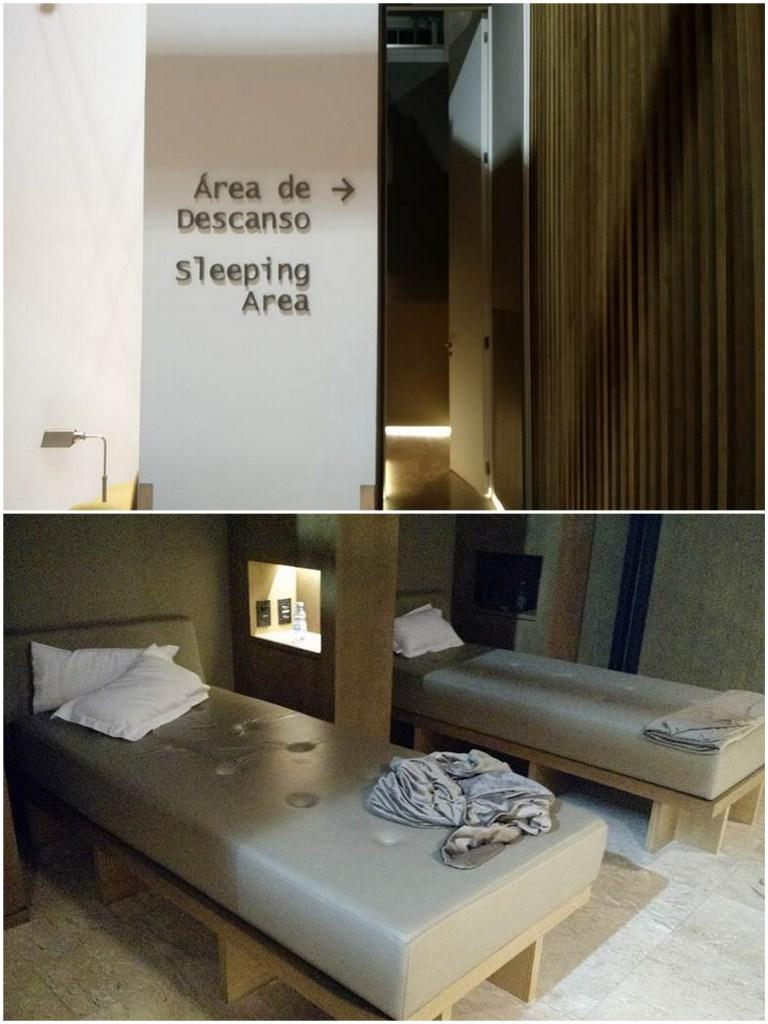 VIP Lounge Latam área de descanso