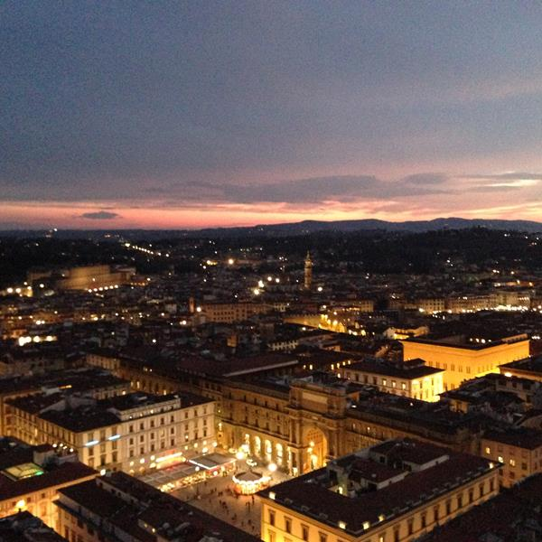 Anoitecer Florença - Duomo