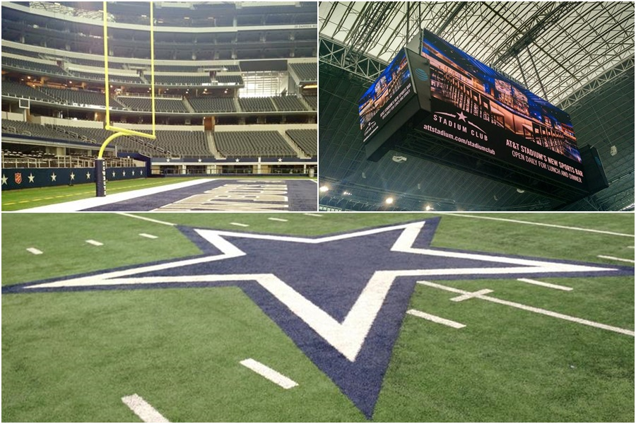 campo Dallas Cowboys gramado