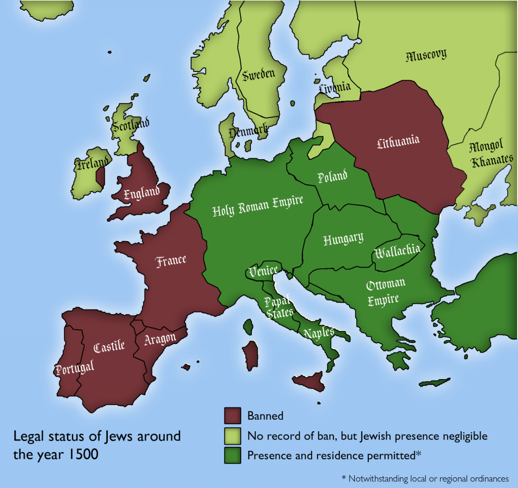 European Countries Where Jews Were Allowed To Exist In