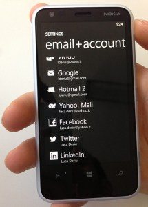 email + accounts