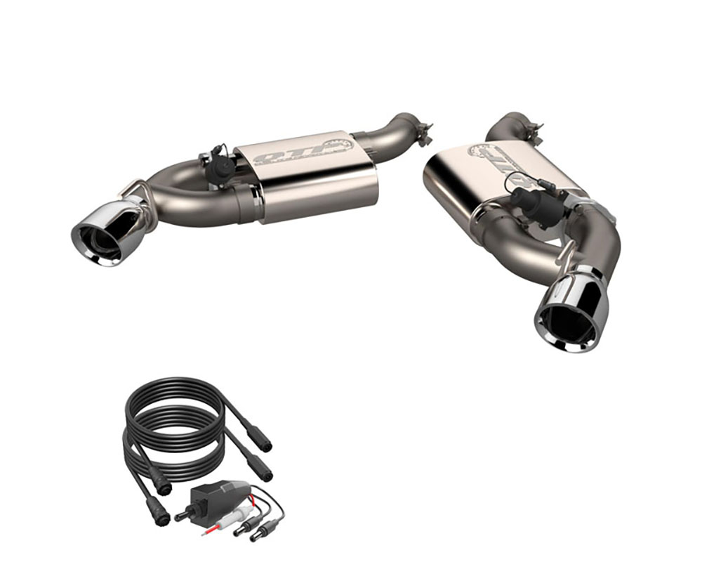 2016 2021 chevrolet camaro ss 6 2l screamer exhaust axle back 3 inch dual tip bumper quick time performance